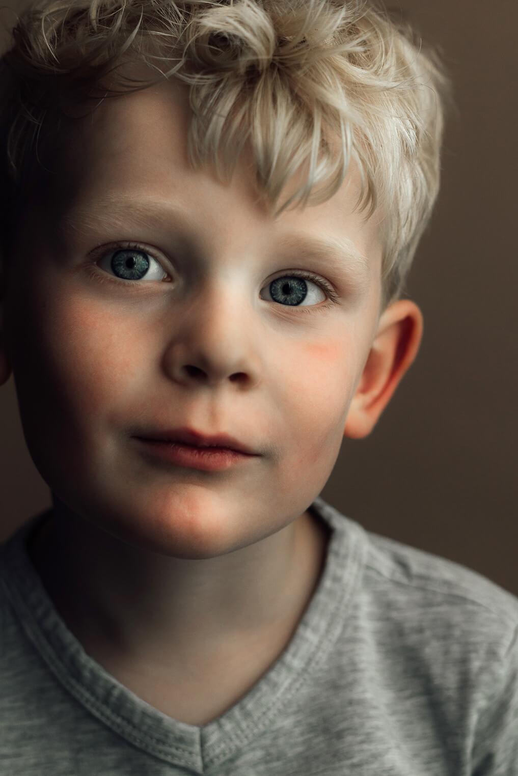 kinderportret close-up jongen