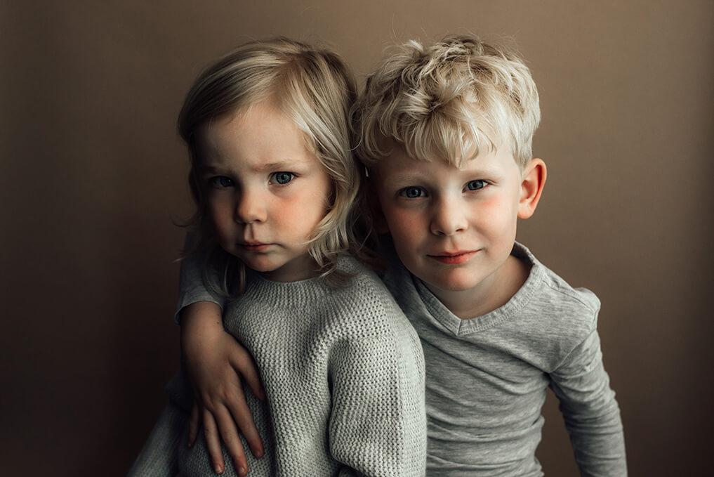 broer en zus kinderportret